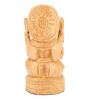 The Nodding Head Brown Wood Ganesha Showpiece
