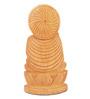 The Nodding Head Brown Wood Enlightening Buddha Showpiece