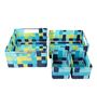The Quirk Box Cloth Blue & Green Storage Basket - Set of 4