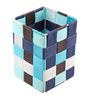 The Quirk Box Multipurpose Cloth Blue & Black Small Storage Basket