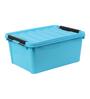 The Quirk Box Multipurpose Plastic Blue 20 L Storage Box with Lid