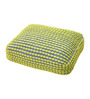The Rug Republic Yellow & Grey Polyester 24 x 18  Inch Rococco Cushion Cover with Insert
