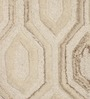 The Rug Republic Ivory Woollen Geometric Hand Tufted Area Rug