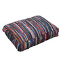 The Rug Republic Multicolour Leather 24 x 18 Inch Kasas Cushion Cover with Insert