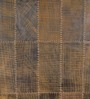The Rug Republic Saddle Brown Leather Geometric Hand Woven Area Rug
