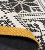 The Rug Republic White & Black Wool Geometric Pattern Carpet
