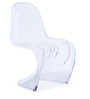 The S Replica Chair in Clear Finish by HomeHQ