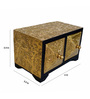 The Shopy Multicolour MDF & Mango Wood Vintage Table Top Collectible with 2 Drawers