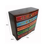 The Shopy Multicolour MDF Vintage Table Top Collectible with 5 Drawers