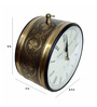 The Shopy Multicolour Metal Retro Clock