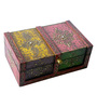 The Shopy Multicolour Solid Wood Vintage Collectible Sandook