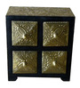 The Shopy Multicolour Solid Wood Vintage Table Top Collectible with 4 Drawers