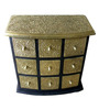 The Shopy Multicolour Solid Wood Vintage Table Top Collectible with 9 Drawers