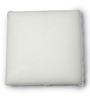 The White Willow White Memory Foam 16 x 16 Inch Square Cushion Insert