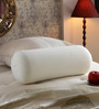 The White Willow White Memory Foam 24 x 8 Inch Round Support Bolster Pillow
