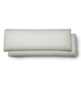 The White Willow White Memory Foam 30 x 10 Inch Rectangle Cushion Inserts - Set of 2