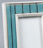 The Yellow Door Antique Green & White Wood & Glass 8.5 x 10.5 Inch Antique Painted Photo Frame