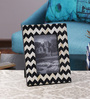 The Yellow Door Black & White MDF & Glass 6.5 x 8.5 Inch Monochrome Chevron Print Photo Frame