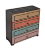 The Yellow Door MDF Wood Multicolour 4 Drawers Jewellery Box