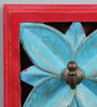 The Yellow Door Red & Blue MDF Square Key Holder