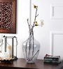 The Yellow Door Transparent Glass Smoke Lustre Crackled Vase