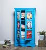 Daft Medium Wardrobe in Azure Blue Finish by Bohemiana
