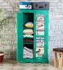 Daft Medium Wardrobe in Jade Green Finish by Bohemiana
