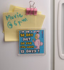 Thoughtroad Blue Plastic & Paper 30 Day Diet Fridge Magnet