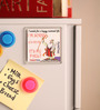 Thoughtroad Multicolour Plastic & Paper 7 Words for Happy Married Life Fridge Magnet