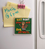 Thoughtroad Red Plastic & Paper Eat Right Fridge Magnet