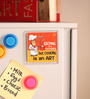 Thoughtroad Multicolour Plastic & Paper Eating Is A Necessity Fridge Magnet