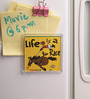 Thoughtroad Multicolour Plastic & Paper Life Is A Race Door Fridge Magnet