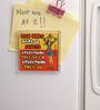 Thoughtroad Multicolour Plastic & Paper Men Quoted Fridge Magnet