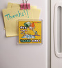 Thoughtroad Yellow Plastic & Paper Thaand Rakh Fridge Door Magnet