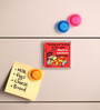 Thoughtroad Multicolour Plastic & Paper Tossing & Turning Fridge Magnet