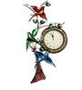 Wonderland Three Bird Wall Clock