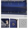 Three Door Metal Shoe Rack in Blue Colour by FurnitureKraft