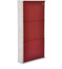 Three Door Metal Shoe Rack in Maroon Colour by FurnitureKraft