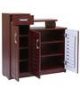 Three door Shoerack in Red Cherry color by Woodfurn