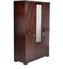 Kiyo Three Door Wardrobe In Wenge Finish by Mintwud