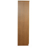 Three Door Wardrobe with Mirror in Brown Colour by Penache Furnishings