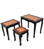 Three Piece Nest Table in Dark Brown Colour by Eros
