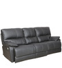 Three Seater Automatic Recliner Sofa in Black Colour by Sofab