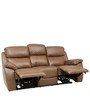Three Seater Motorized Half Leather Recliner in Cappuccino Colour by Star India