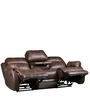 Three Seater Sofa Recliner with Collapsible Tray in Brown Colour by Star India