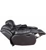 Three Seater Sofa Recliner with Collapsible Tray in Black Colour by Star India