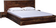 Duvall Queen Sized Bed with Bed Side Table in Provincial Teak Finish by Woodsworth