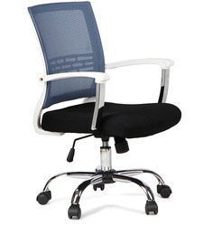 Titus Medium Back Mesh Chair Blue by Hometown