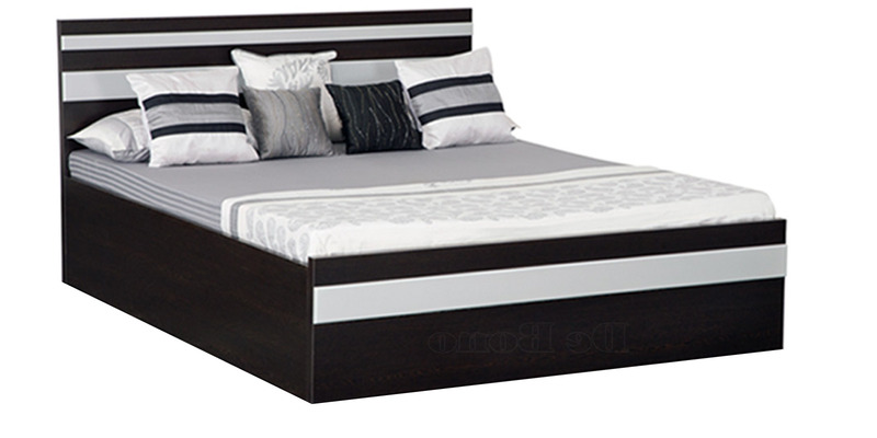 Https Www Pepperfry Com Tiffany Queen Bed With Box Storage In Wenge Matt Silver Finish By Debono 1386599 Html