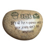 Tile Italia Pebbles Multicolour Stone Its all fun & games until your jeans don't fit anymore! Engraved Paper Weight